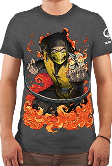 Футболка x Scorpion (Mortal Kombat)