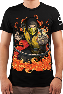 Футболка x Scorpion (Mortal Kombat)