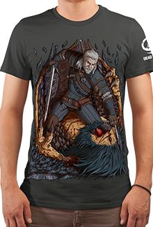 Футболка Witcher and the Beast (The Witcher 3)