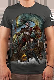 Футболка Kratos and Boy (God of War)
