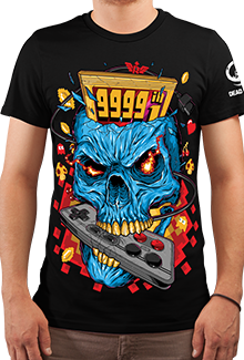 Футболка 8BIT Skull (DB Games Series)